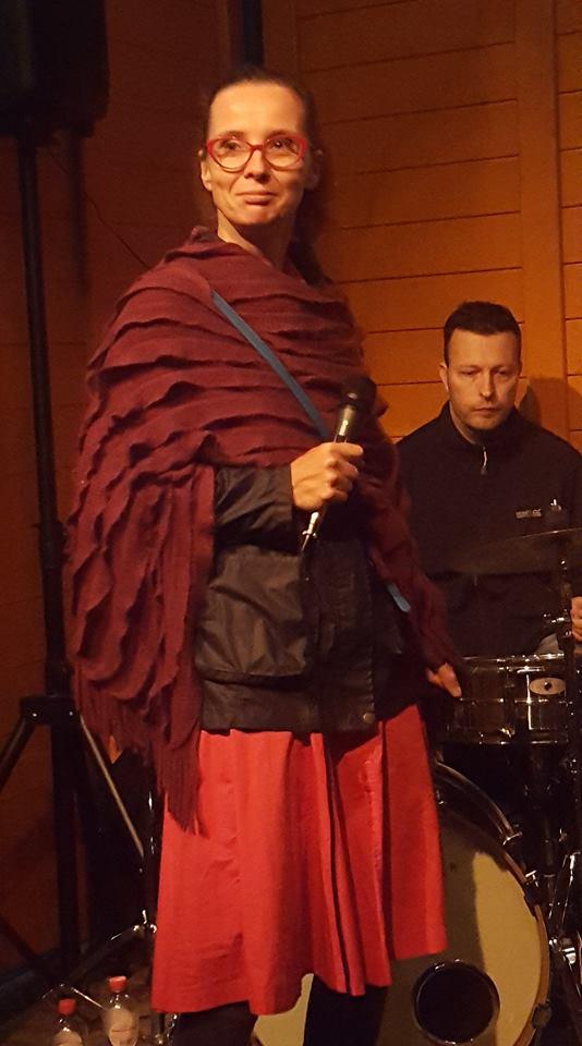 Tijdens optreden op het Stadsfestivial met Raakvlak Academie
