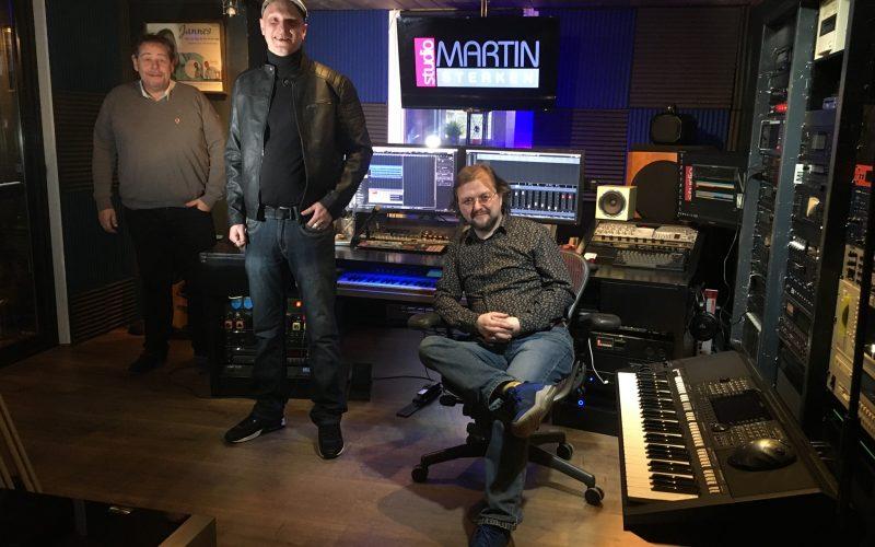 Danny en Henri in de studio bij Martin